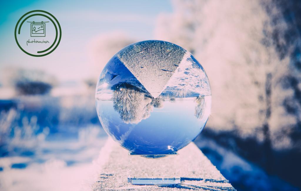 Der Winter passt in eine Glaskugel